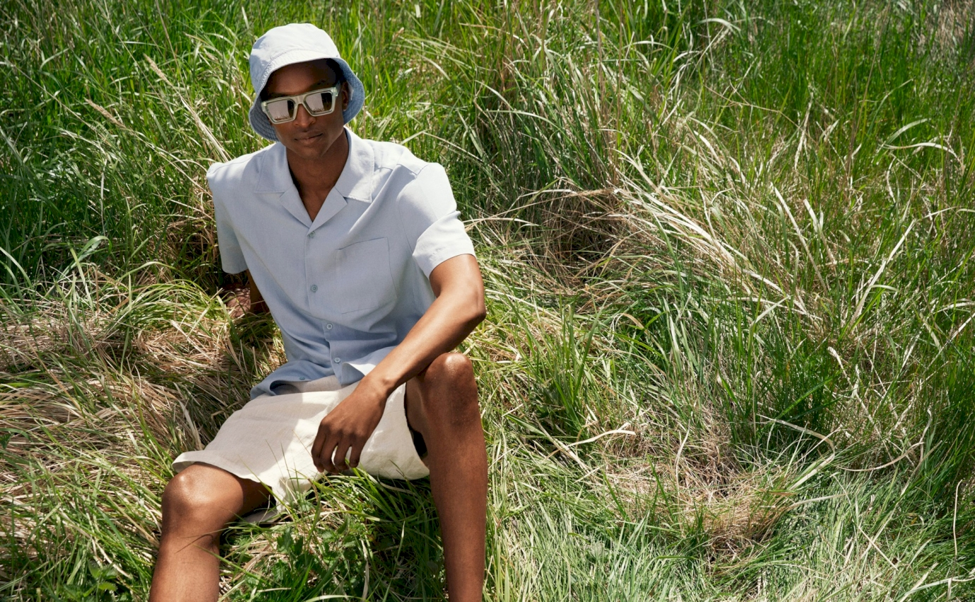 H&M team up with eyewear brand CHIMI for a sunny pastel menswear collection